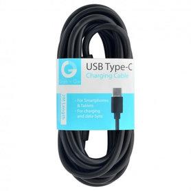 laad+datakabel USB-A(M) - USB-C(M) 2m zwart