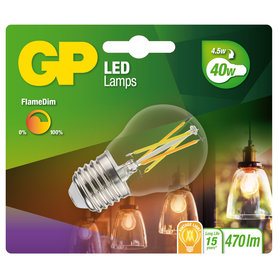 LED lamp E27 4,5W W 470Lm kogel Filament FlameDim