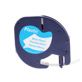 Dymo LT plastic labels wit-zwart 12mm