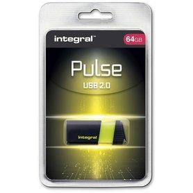 USB 2.0 memory pen 64GB geel