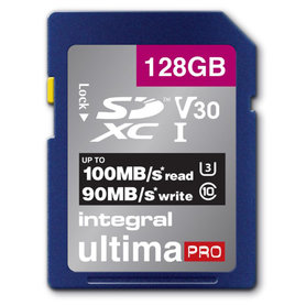 Secure Digital kaart 128GB SDXC - V30