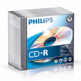 CD-R 700MB 52xspeed slim case 10 stuks