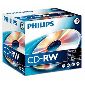 CD-RW 700MB 4-12xspeed jewel case 10 stuks