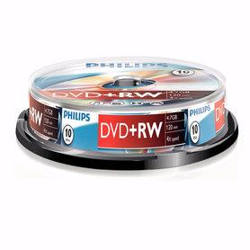 DVD+RW 4,7GB 4xspeed spindle 10 stuks