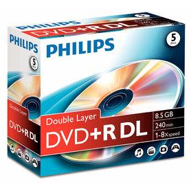 DVD+R Double layer 8,5GB 8xspeed jewel case 5 stk