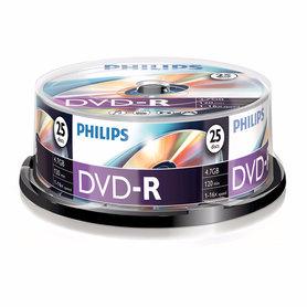 DVD-R 4,7GB 16xspeed spindle 25 stuks