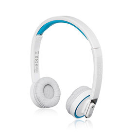 draadloze headset + microfoon Bluetooth wit