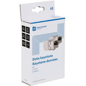 data keystone CAT6A 2 stuks