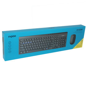 draadloze multi-mode toetsenbord + muis zwart