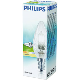 halogeenlamp E14 28W 370Lm kaars gedraaid