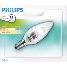 halogeenlamp E14 42W 630Lm kaars gedraaid
