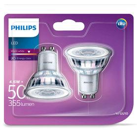 LED lamp GU10 4,6W 355Lm reflector 2 stuks