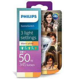 LED lamp GU10 5W 345Lm reflector scene switch