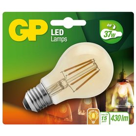 LED lamp E27 4W 430Lm classic vintage gold