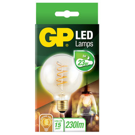 LED lamp E27 5W 230Lm grote bol vintage gold