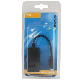 aansluitkabel MHL HDMI(F)-micro USB(M) 11-p