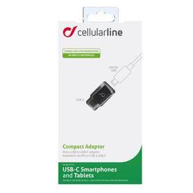 adapterblok USB-C(M) - Micro USB(F)