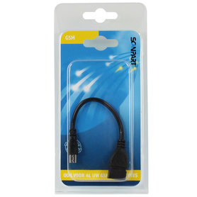 OTG kabel on-the-go micro USB 15cm