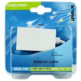 adapter kabel USB C (M) - DisplayPort (F)