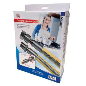 """gasslang 1/2"""" 100cm RVS flexibel PVC (BE)"""