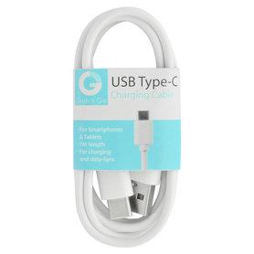 laad+datakabel USB-A(M) - USB-C(M) 1m wit