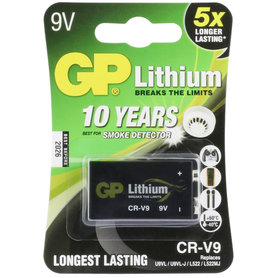 batterij 9V lithium