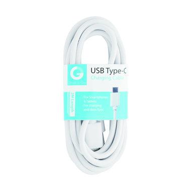 laad+datakabel USB-A(M) - USB-C(M) 2m wit