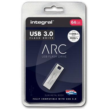 USB 3.0 memory pen 64GB metaal