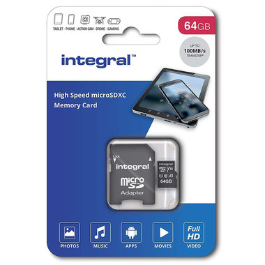 Secure Digital kaart 64Gb Micro SDXC - V10