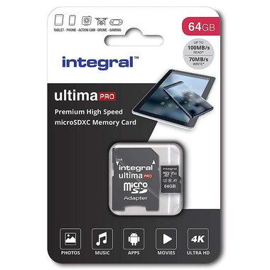 Secure Digital kaart 64Gb Micro SDXC - V30