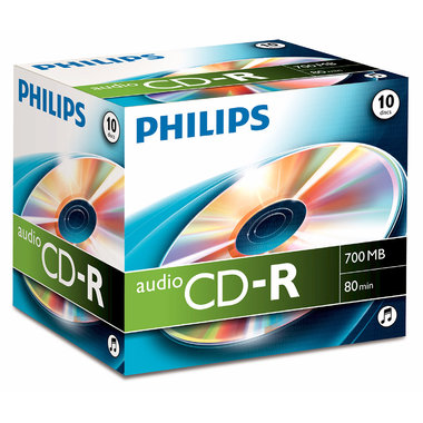 CD-R 700MB audio jewel case 10 stuks