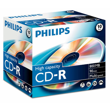 CD-R 800MB 52xspeed jewel case 10 stuks