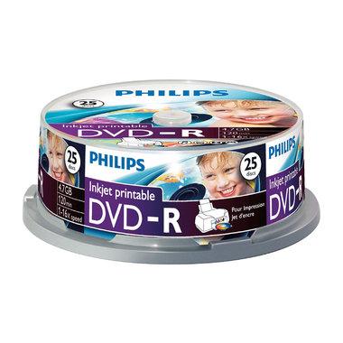 DVD-R 4,7GB 16xspeed printable spindle 25 stuks