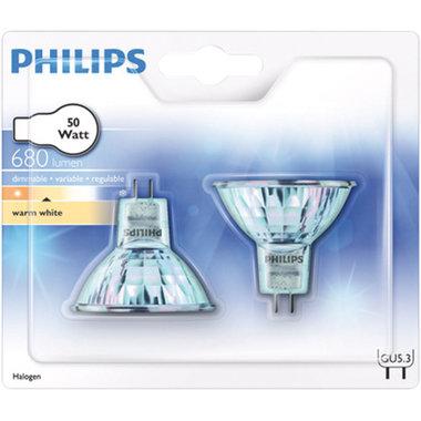 halogeenlamp GU5.3 50W 680Lm reflector - 2 stuks