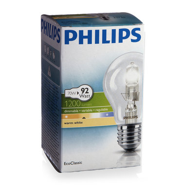 halogeenlamp E27 70W 1200Lm classic