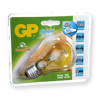 halogeenlamp E27 46W 630Lm classic