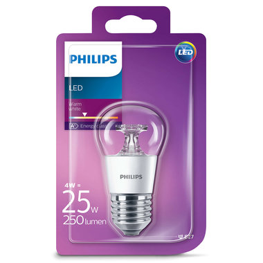 LED lamp E27 4W 250Lm kogel helder