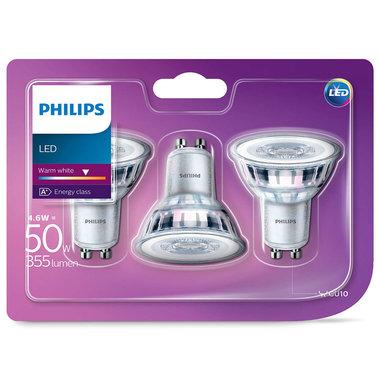 LED lamp GU10 4,6W 355Lm reflector 3 stuks