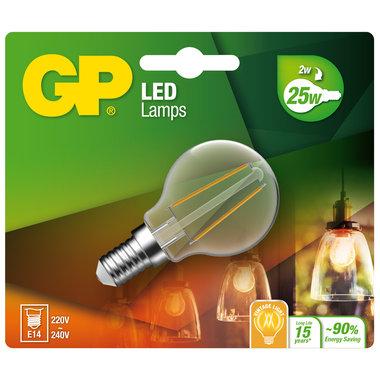 LED lamp E14 2W 250Lm kogel Filament