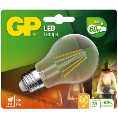 LED lamp E27 6W 806Lm peer filament