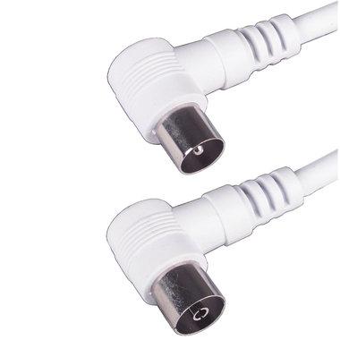 aansluitkabel 9.5mm(M)-(F) haaks 1,5m wit