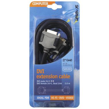 verlengkabel DVI-D 24+1p(M)-(F) 2.0m