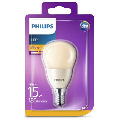 LED lamp E14 4W 185Lm kogel flame