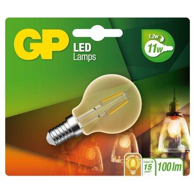 LED lamp E14 1,2W 100Lm kogel vintage gold