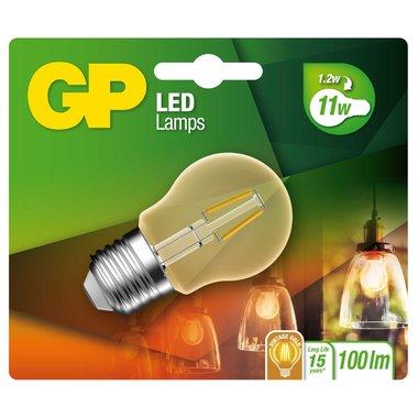 LED lamp E27 1,2W 100Lm kogel vintage gold