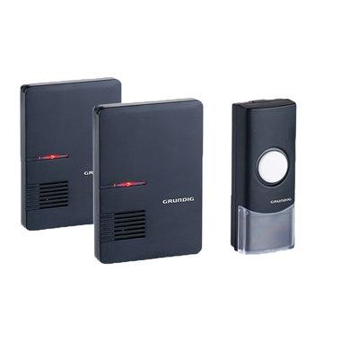 draadloze deurbel zwart - 2 ontvangers