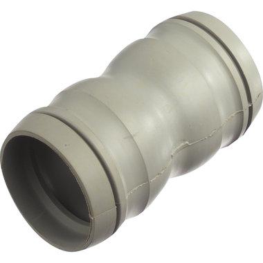 rubberen mof + 2 ringen voor 32mm slang
