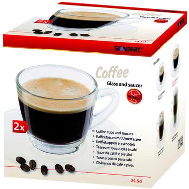 koffie kop en schotel 2x24,5cl
