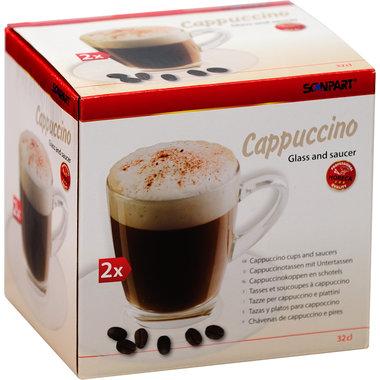 cappuccino kop en schotel 2x32cl