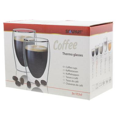 koffie thermo glazen 2x17,5cl